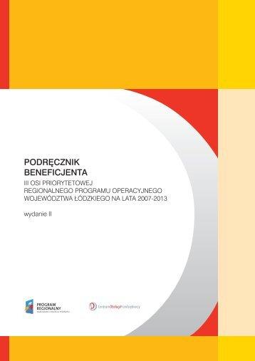 P B PODRĘCZNIK BENEFICJENTA - Centrum Obsługi Przedsiębiorcy