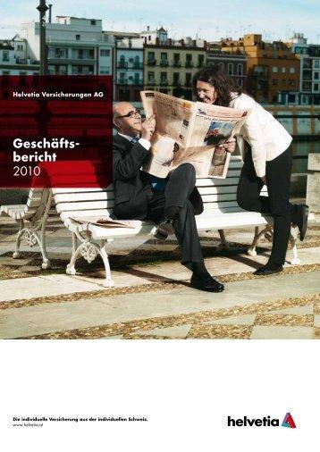 Geschäftsbericht 2010 - Helvetia