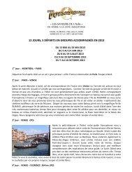 « LES SAVEURS DE L'Italie » 12 JOURS, 5 ... - Voyages à rabais