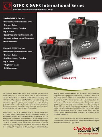 GTFX & GVFX International Series - Electrotech