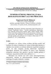 temperatūrinių procesų įtaka biologiniam oro valymo procesui