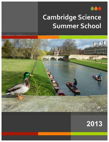 Cambridge Science Summer School 2013 - National University of ...