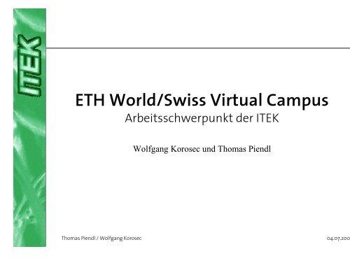ASP ETH World / Swiss Virtual Campus - ITEK