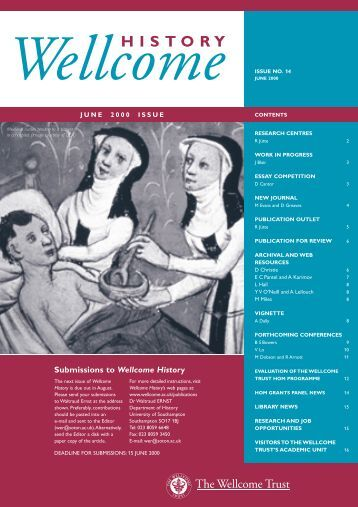 Issue 14 - Wellcome Trust
