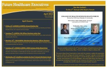 April 2013 - Healthcare Leadership Network