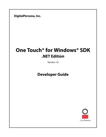 digitalpersona one touch for windows sdk 1.6.1  youtube