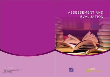 ASSESSEMENT AND EVALUATION ASSESSEMENT AND ... - VVOB