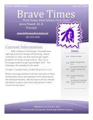 Friday Bulletin, April 12th, 2013 - Bellevue Public Schools