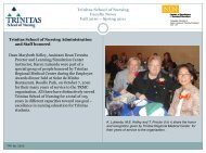 Faculty News Spring/Summer 2010 - Trinitas Hospital