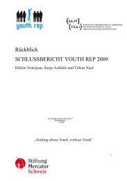 Jahresbericht Youth Rep 2009 , 446.2 KB - SAJV