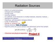 Radiation Sources (Part 1)