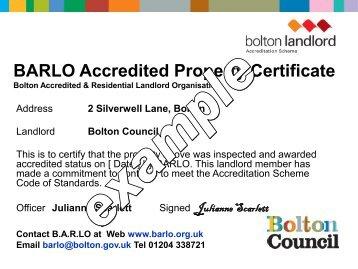 A Brand Identity for Salford - Bolton Landlord Accreditation Scheme