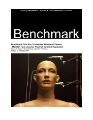 Benchmark Test for a Computer Simulated Person - Aalborg ...