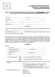 Istanza passo carrabile - Comune di Castellana Sicula