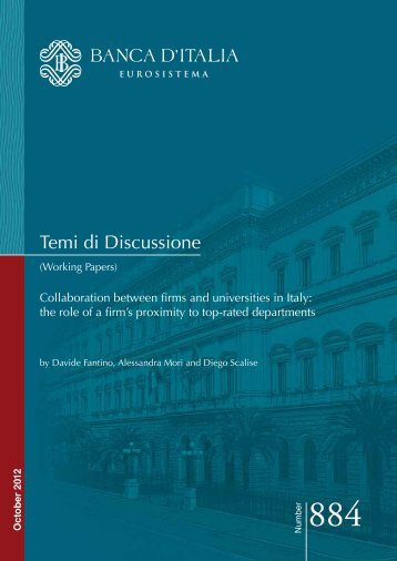 Collaboration between firms and universities in Italy - Banca d'Italia