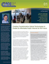 Creating Transformative Optical Technologies to Enable an ... - CIAN