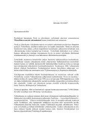 Lausunto Tiede ja yhteiskunta -työryhmän muistion toteutumisesta