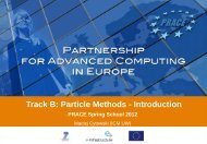 Track B: Particle Methods - Introduction - Prace Training Portal