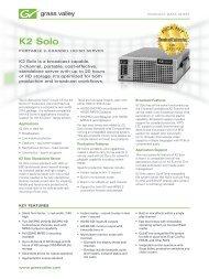 K2 Solo Portable 2-Channel HD/SD Server