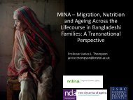 MINA - New Dynamics of Ageing