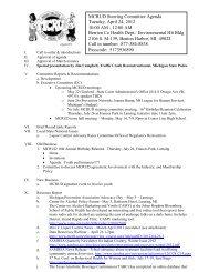 MCRUD Steering Committee Agenda
