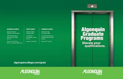 Download Our Graduate Certificate Booklet Algonquin College