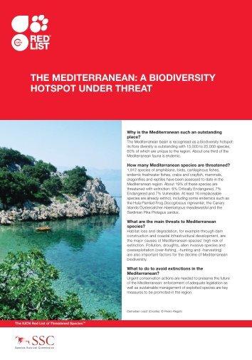The Mediterranean a biodiversity hotspot under threat factsheet - IUCN
