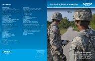 Tactical Robotic Controller (TRC) Brochure - QinetiQ North America
