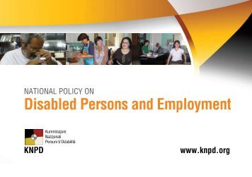 Disabled Persons and Employment - National Commission Persons ...