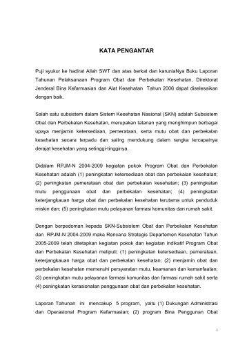 KATA PENGANTAR - Direktorat Jenderal Bina Kefarmasian dan Alat ...