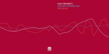 NSW PREMIER'S HISTORY AWARDS 2011 PROGRAM - Arts NSW ...