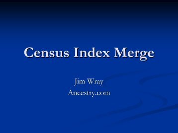 Census Index Merge
