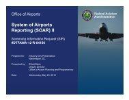 Industry Day SOAR Presentation - FAACO - Federal Aviation ...