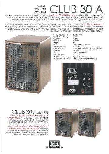 CLUB 30 A - SR Technology