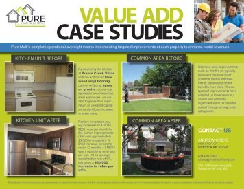 July 2013 Value Add Mail Out - Pure Multi-Family REIT LP