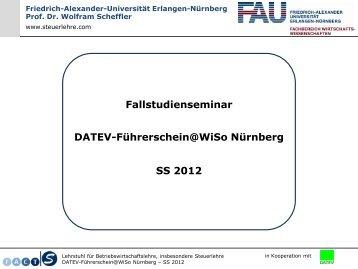DATEV-Führerschein - Lehrstuhl für Betriebswirtschaftslehre ...