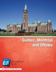 Québec, Montréal and Ottawa - EF Educational Tours