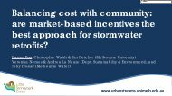 Balancing cost with community: are market-based incentives the ...