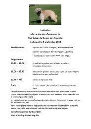 Invitation à la randonnée d'automne du Club Suisse du ... - csbp.ch