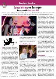 Speed dating en Gascogne - Le Canard Gascon