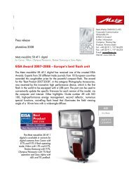 EISA Award 2007-2008 – Europe's best flash unit - Metz