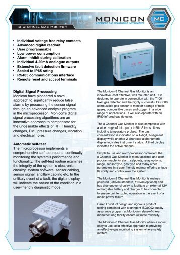 • Individual voltage free relay contacts • Advanced digital ... - Alfakomp