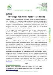 PEFC press release CSA endorsement.pdf - Canadian Plywood ...