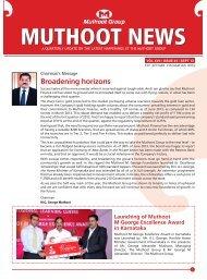 Broadening horizons - Muthoot Group