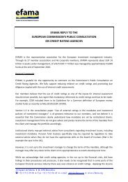 EFAMA Reply to Commission Public Consultation on Credit Rating ...