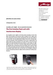 The first hotshoe flash unit with touchscreen display - Metz