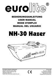 EUROLITE NH-30 Hazer User Manual