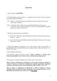 autoreferat polski - Akademia Wychowania Fizycznego we Wrocławiu