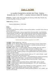 Zápis č. 16/2009 ze zasedání Zastupitelstva MČ Praha-Satalice ...