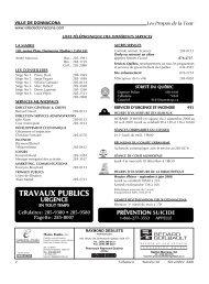 TRAVAUX PUBLICS - Ville de Donnacona